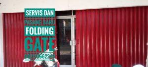 Service pintu besi folding gate Panggungharjo Sewon Bantul Yogyakarta